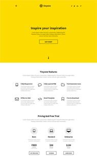 黃色個人響應式CSS3模板