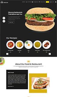 美食漢堡西餐廳網站模板