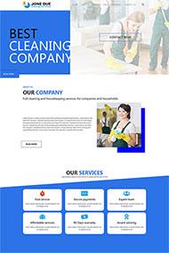 公司保潔外包企業網站模板
