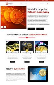 比特幣礦業公司網站模板