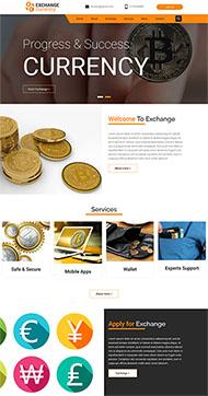 加密貨幣概念網站模板
