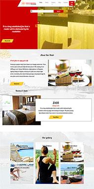 星級酒店管理企業網站模板