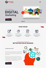 營銷自動化公司網站模板