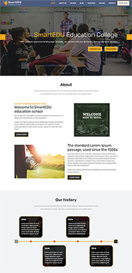 課程教育培訓機構網站模板
