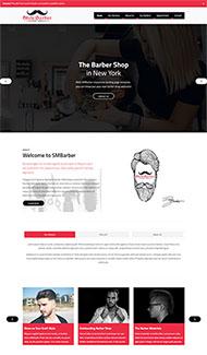男士發型設計HTML5模板