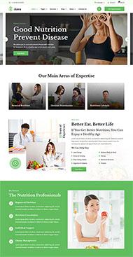 健康减肥饮食方案网站模板