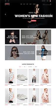 时尚进口服装HTML5模板