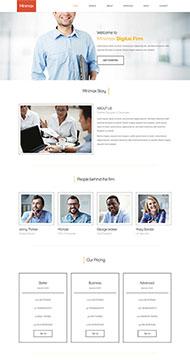 白色数码科技公司网站模板