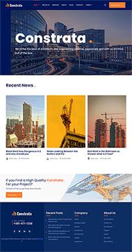 建筑装修工程企业网站模板