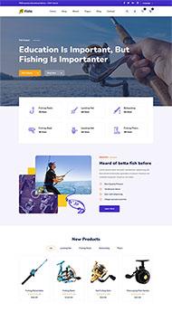 钓鱼配件商店HTML5模板