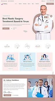 美容整形醫院官網HTML5模板