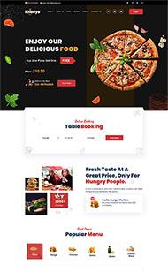 披薩快餐廳外賣網站模板