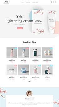 女性保養護膚品網站模板