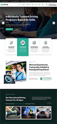 汽車駕校企業官網HTML5模板