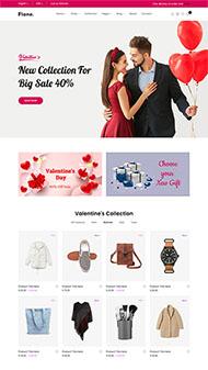 七夕情人節促銷頁面HTML模板