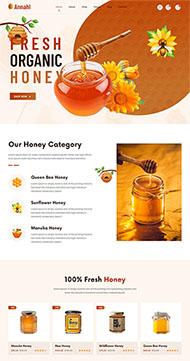 農家蜂蜜網上銷售HTML5模板