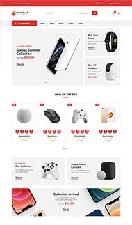 電子數碼商店網站HTML5模板