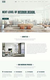 室內建筑家具公司展示單頁模板