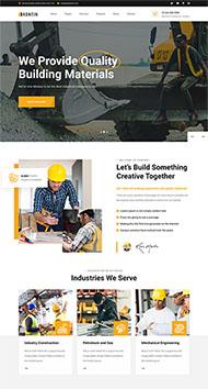 建筑行業工業官網HTML5模板