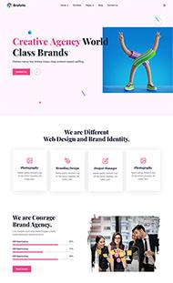 創意品牌廣告設計公司網站模板