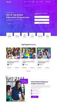 在線課程教育機構網站模板