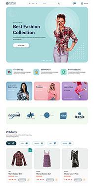 女性服裝電商網站HTML5模板