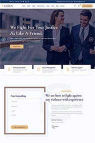 法律事務咨詢網站HTML5模板