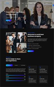 營銷咨詢服務網站HTML5模板