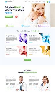 妊娠護理診所網站HTML5模板