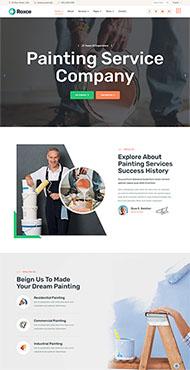 涂料油漆廠家網站HTML5模板