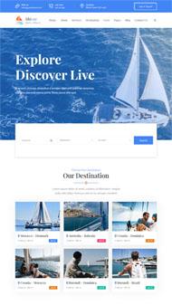藍色輪船游艇俱樂部網站模板