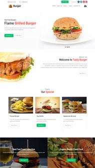 高熱量快餐食品網站HTML5模板