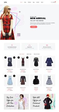 時尚女裝電商網站HTML5模板