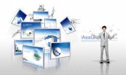 商務展示模板PSD素材