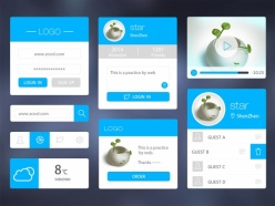 網頁UI模板設計素材