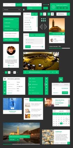 綠色主題UI源文件模板