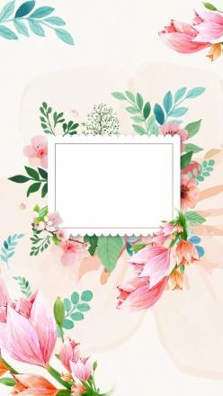 水彩花卉裝飾PSD背景圖
