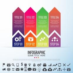 商務信息圖表PSD分層素材