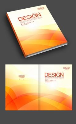 簡約橙色畫冊封面設計