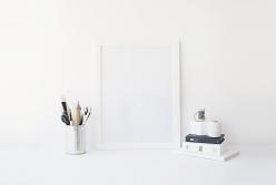 白色相框樣機