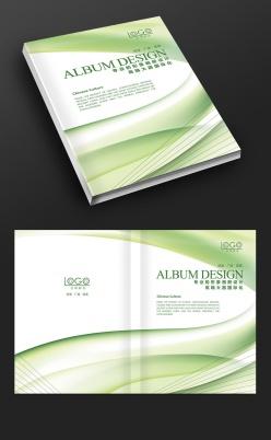 綠色線條時尚封面設計