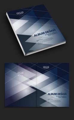 深藍色企業畫冊封面