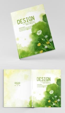 綠色自然蒲公英畫冊封面