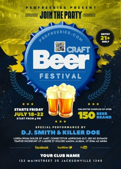啤酒宣傳海報PSD素材