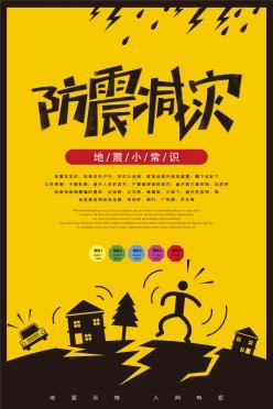 防震減災宣傳海報設計