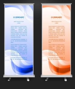 簡潔漸變色企業易拉寶海報