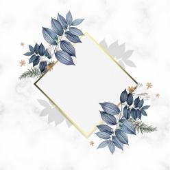 菱形花邊邊框素材