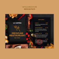 墨西哥餐廳兒童套餐菜單設計