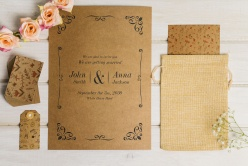 牛皮紙婚禮卡片樣機