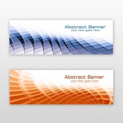酷炫科技幾何banner背景設計